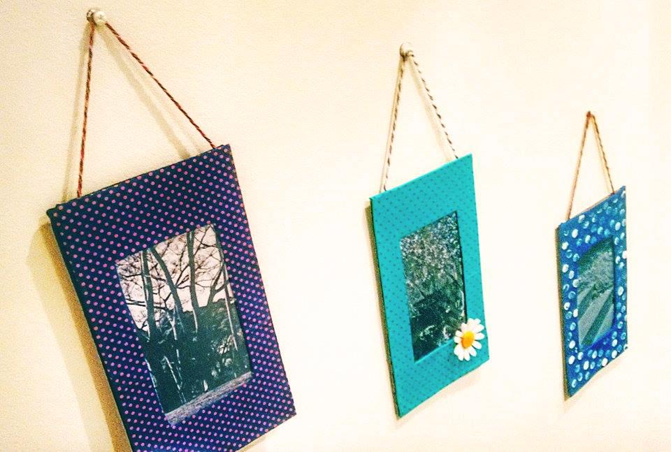 DIY fofo! Enfeite a parede do seu quarto com porta-retrato de papelão