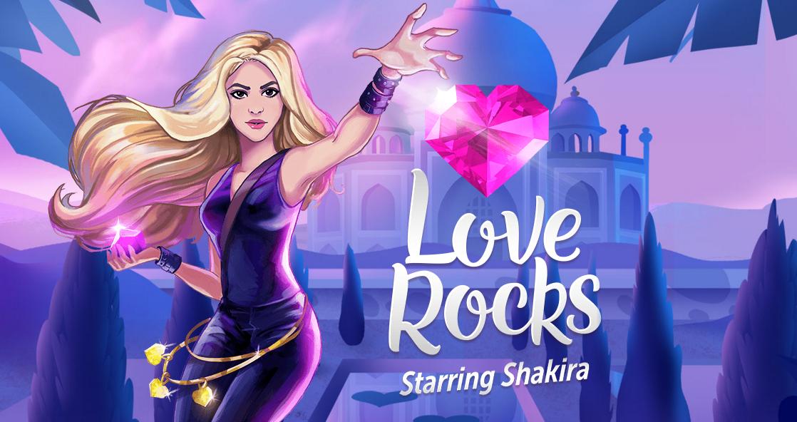 """New game! Shakira lança o jogo """"Love Rocks"""" para smartphones"""