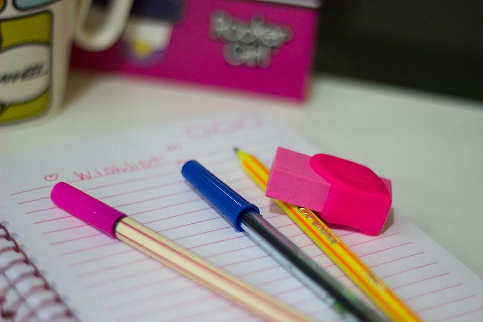 Nada de bagunça no caderno! A sua letra tá legal?