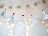 DIY: Varal de árvores natalinas