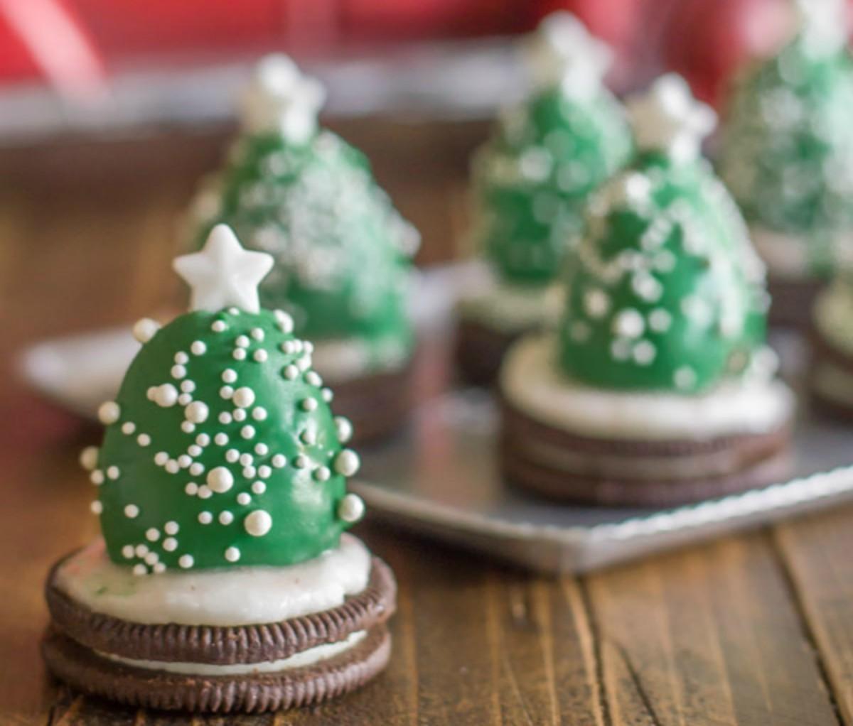 Comidinhas: árvore de Natal muito amor com base de Oreo!