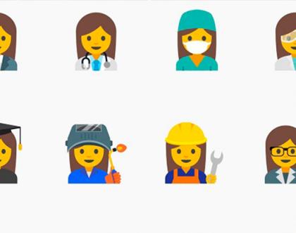 O Google está fazendo novos emojis provando que mulher pode tudo!
