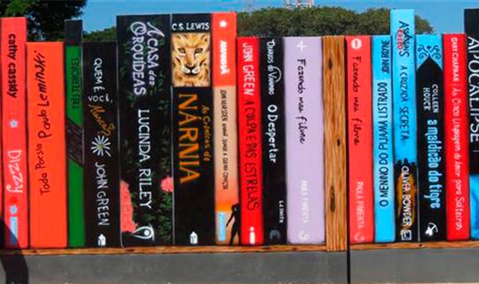 Colégio brasileiro arrasa com muro em forma de livros!