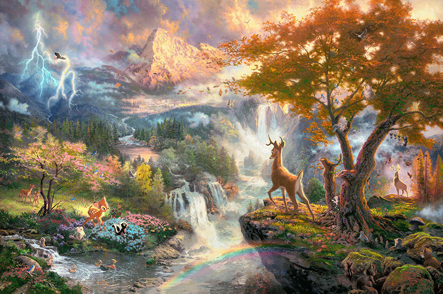 disney-paintings-thomas-kinkade-7