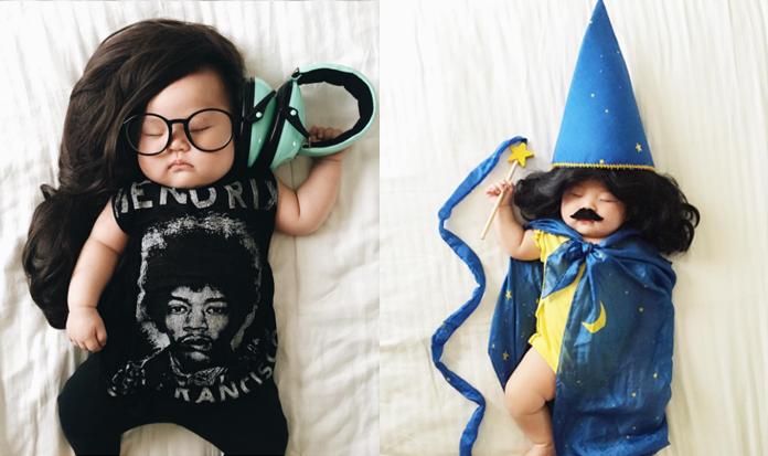 FOFURA: Mãe transforma a filha em personagens famosos enquanto ela dorme!