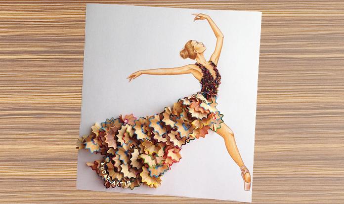 Ilustrador utiliza elementos do cotidiano e cria vestidos maravilhosos!