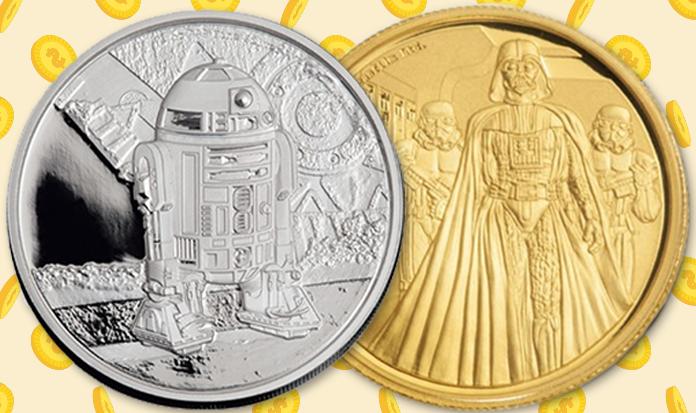 O país que tem as moedas mais legais do mundo com o tema Star Wars!
