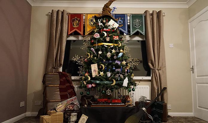 Árvore de Natal com o tema de Harry Potter: QUERO!