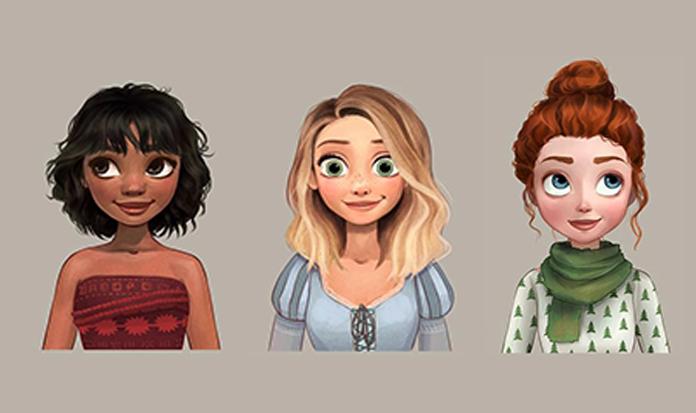 Princesas Disney com novos penteados?