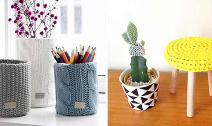 Acessórios de tricô e crochê podem deixar sua casa moderninha!