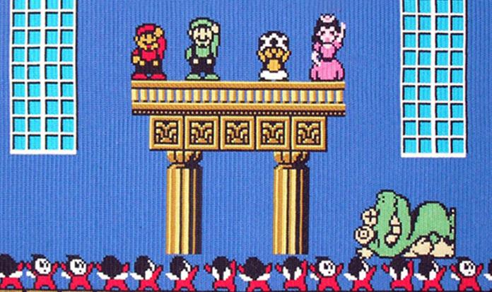 Artista reproduz cenas de jogos clássicos de videogame em bordados perfeitos!