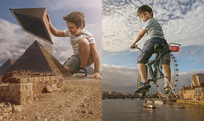 Fotógrafo cria mundo de fantasia para seu filho usando Photoshop!