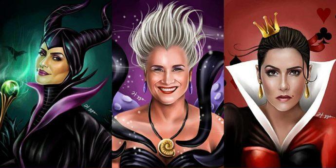 Artistas brasileiras viram vilãs da Disney em ilustrações!