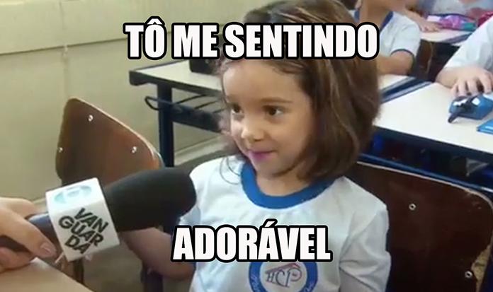 Garotinha adorável viraliza em entrevista no seu primeiro dia de aula