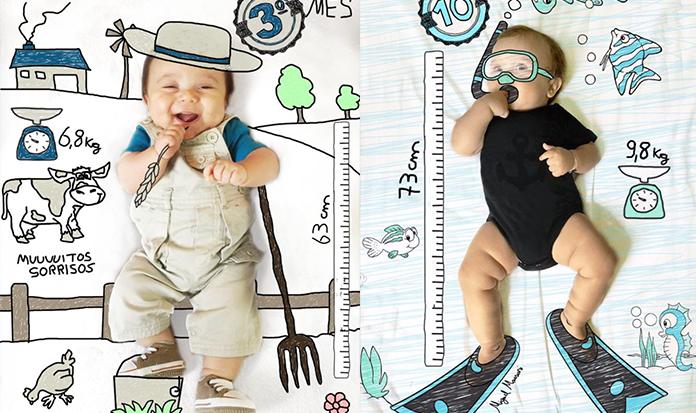 FOFURA! Pais fotografam bebê e adicionam ilustrações de várias profissões