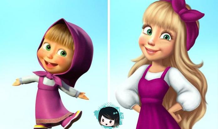 Como os personagens de nossos desenhos animados favoritos seriam se fossem mais velhos?