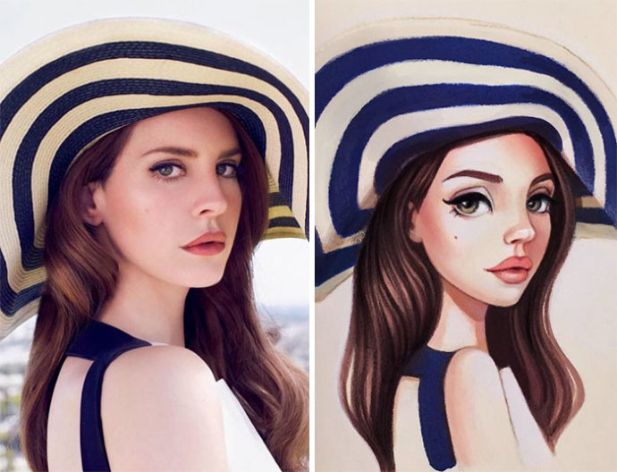 Russian-artist-draws-chic-portraits-cartoons-of-celebrities-58d4e5f664d7f__700-690x528