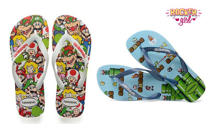 Super Mario estrela nova coleção de chinelos da Havaianas!