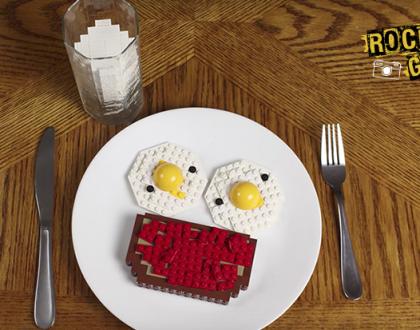 Que tal tomar um café da manhã feito com LEGOs?