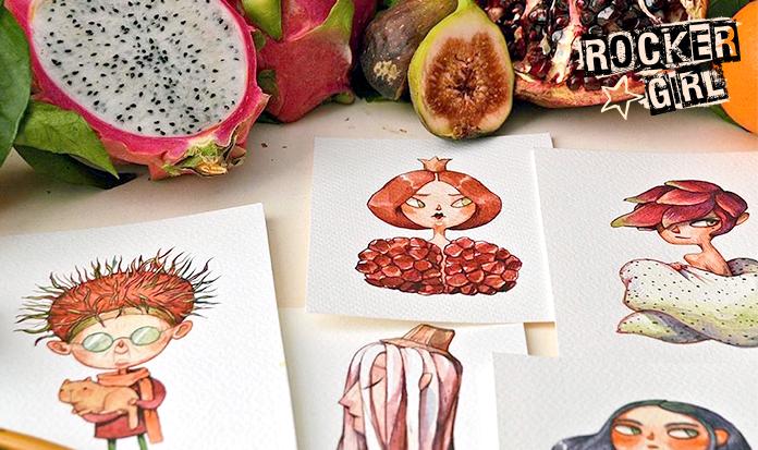 Ela transforma frutas em ícones fashion e o resultado é incrível!
