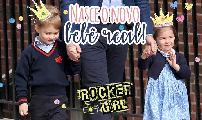 Princesa Charlotte rouba a cena ao visitar o irmãozinho no Reino Unido